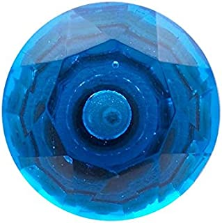 Bombay Duck SBR147BX 5 cm Large Faceted Glass Door Knob - Blue (6 Units)