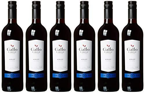 Gallo Family Vineyards Merlot Ernest und Julio Halbtrocken (6 x 0.75 l)