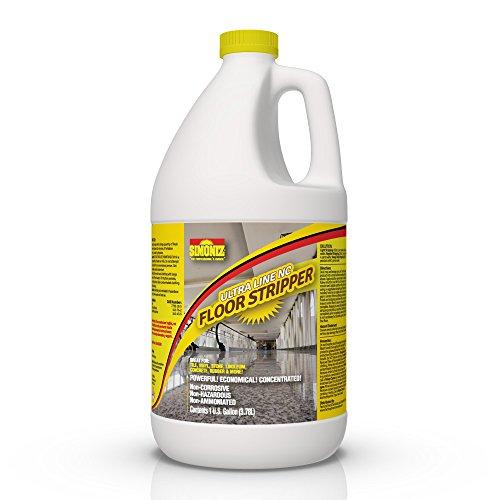 Ultimate Floor Finish & Wax Stripper Remover Non Corrosive Concentrated - 1 Gallon