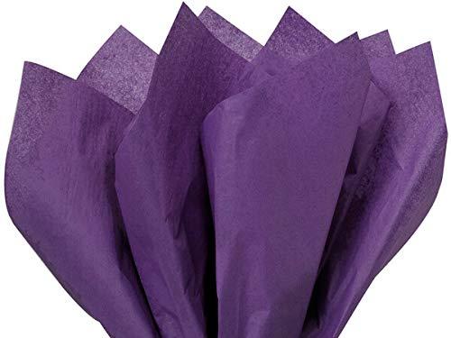 TAIMANI 25 hojas de papel de seda MG 20 x 30 pulgadas, sin ácidos, papel de manualidades de color de hojas morado