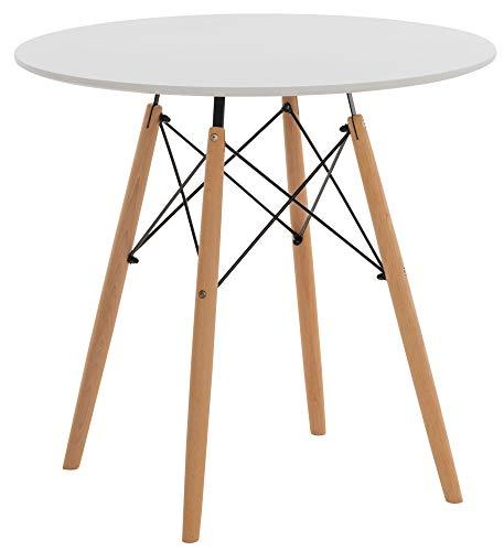 CLP Avila - Mesa de comedor con tablero de madera de haya, color blanco