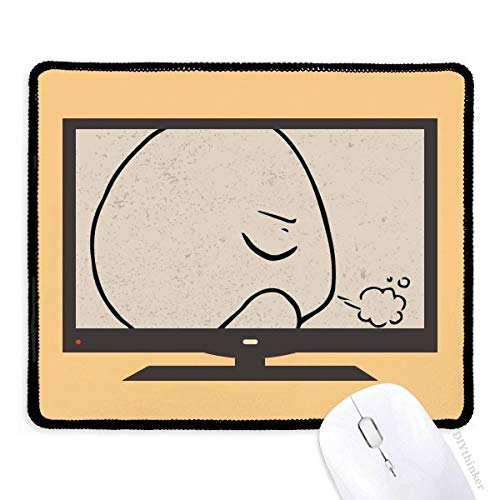 Alfombrilla de ratón con diseño de Emoticono con Ojos Cerrados, Color Negro