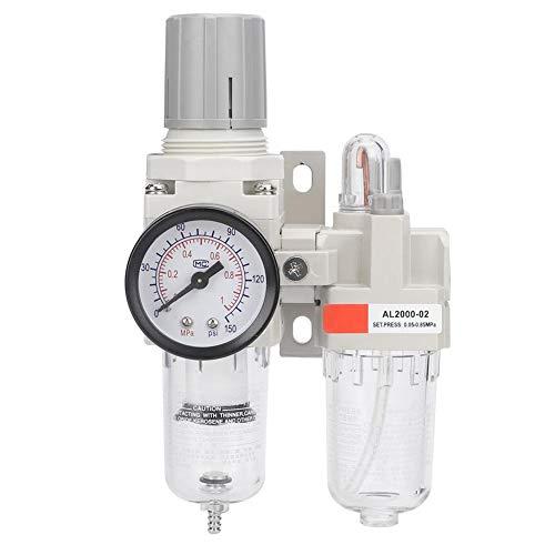 Sollmey AC2010-02 Air-AC2010-02 G1/4 SMC Unidad de Tratamiento de Fuente de Aire Regulador de presión de Filtro de Aire con manómetro