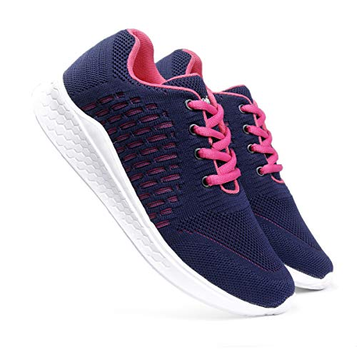 meriggiare® Women Fashion Sneakers Lightweight Sport Gym Jogging Casual Walking Air Cushion Athletic Tennis Running Sports Shoes -Blue