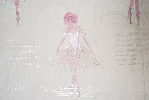 NEWROOM Kindertapete Rosa Ballett Glanz Romantisch Papiertapete Creme Papier Kindertapete Kinderzimmer Babytapete Babyzimmer Mädchen