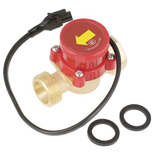 Interruptor de flujo- Interruptor de flujo de agua HT-60 220V 0.5A G3 / 4'-3/4' Interruptor de sensor de flujo de bomba de agua de rosca 1 Uds