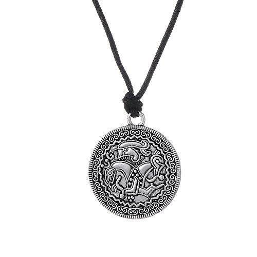 Skyrim Schwedisches Amulett Anhänger Wikinger Münze Halskette Schmuck für Damen und Herren