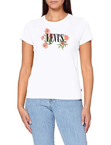 Levi's The Perfect tee Camiseta, Cactus Flower Serif White+, M para Mujer