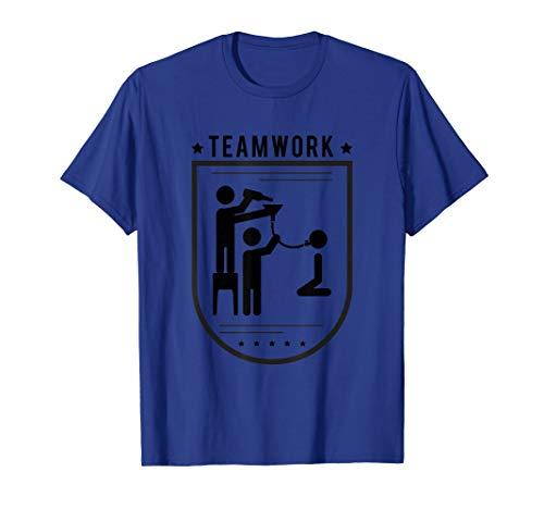 Teamwork Trichtern Trichter Bier Saufspiel T-Shirt