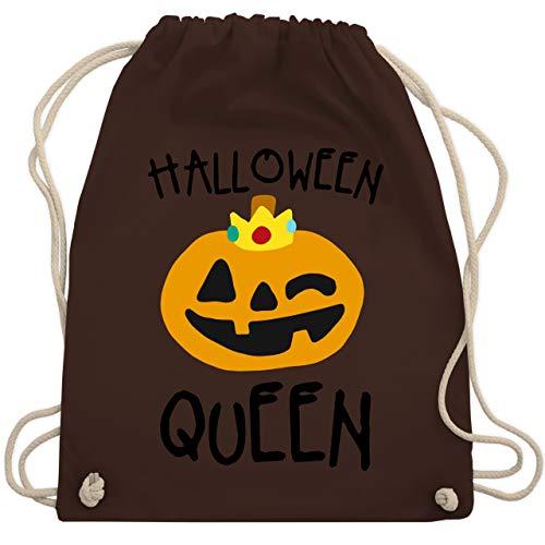 Shirtracer Halloween - Halloween Queen Kostüm - Unisize - Braun - Statement - WM110 - Turnbeutel und Stoffbeutel aus Baumwolle