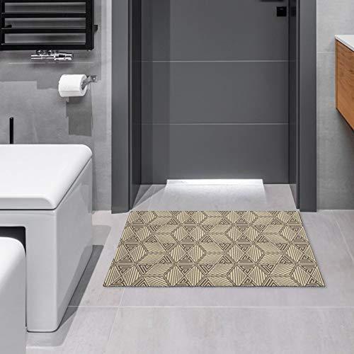 Felpudo para interiores y exteriores, diseño de abanico de los años 20, alfombra antideslizante para puerta de entrada, 39,8 x 59,9 cm