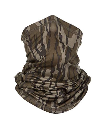 North Mountain Gear Mossy Oak Camouflage Poly Stretch Fit Neck Gaiter (Bottomland)