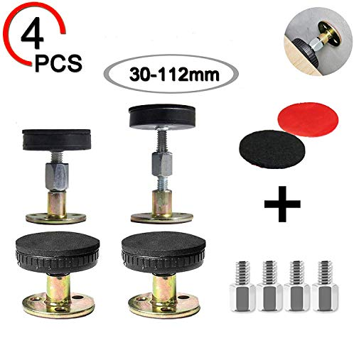Y-WIN Bed Frame Anti-Shake Tool Adjustable Anti-Shake Fixer Headboard stoppers for Room Wall Beds Cabinets Sofas,Allow Bed to Be Stationary Easy Install (4pack)