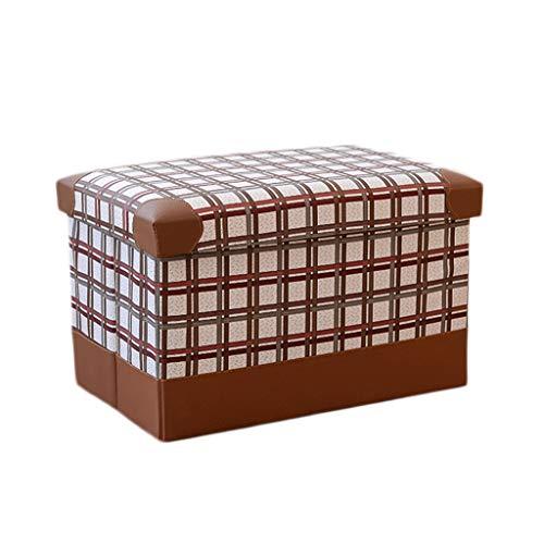 Wddwarmhome Pouf Pliable en polyuréthane, boîte de Rangement, Articles Divers pour Le ménage, Tabouret de Rangement, Charge maximale 150 kg - Facile à Nettoyer