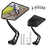 AmzKoi Espejo Retrovisor de Bicicleta, 2 Piezas Espejo Bicicleta 360 Grados Giran Ajustable para Manillares de Diámetro Interior de 17.4-22 mm de e-bike Bicicletas de Carreras Bicicletas de Montaña