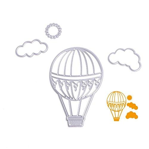 Hemore Stanzschablonen für Heißluftballon, DIY Scrapbooking, Album, gestanzt, Papierkarten-Handwerk