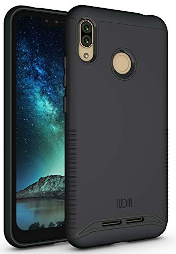 BLU VIVO XL4 Case, TUDIA Slim-Fit Heavy Duty [Merge] Extreme Protection/Rugged but Slim Dual Layer Case for BLU VIVO XL4 [NOT Compatible with VIVO XL or XI+] (Matte Black)