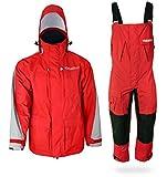 WindRider Pro Foul Weather Gear - Rain Suit - Jacket + Bibs - Breathable, Numerous Pockets, Mesh...