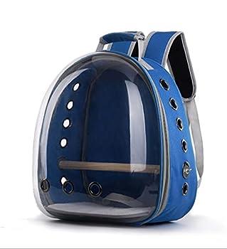 Sac à dos pour animal de compagnie - En tissu Oxford transparent - Portable et confortable - Pour le transport et le transport - Bleu