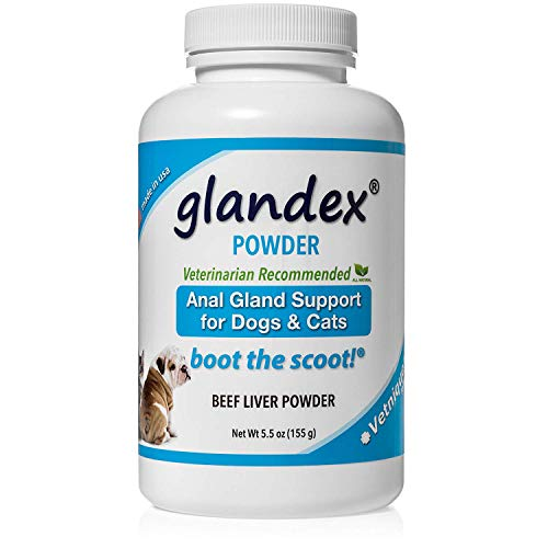 Glandex Dog Fiber Supplement Powder for Anal Glands with Pumpkin, Digestive Enzymes & Probiotics – Vet Recommended Healthy Bowels & Digestion - Boot The Scoot 5.5oz Beef Liver - by Vetnique Labs