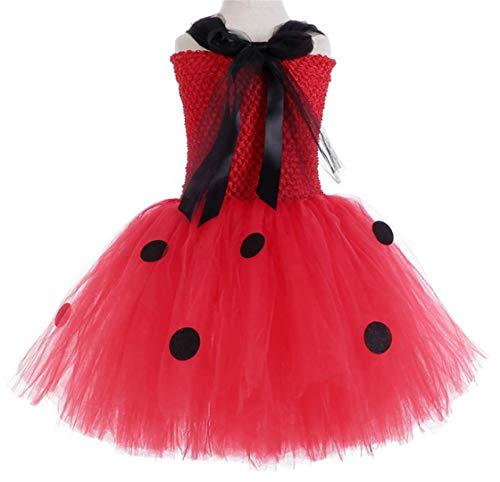 EMIN Niño Disfraz de Miraculous Ladybug para niña Cosplay Ropa del ...