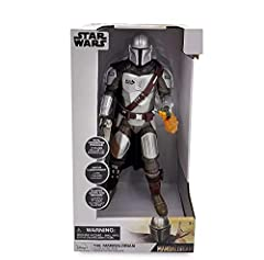 The Mandalorian to life with this talking action figure of the notorious bounty hunter