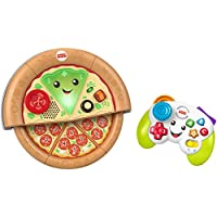 Fisher-Price Laugh and Learn Game and Pizza Party Gift Set of 2 Toys with Lights Music and Learning Content