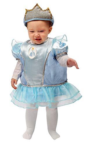Baby prinses kostuum Assepoester 6-12 mesi Lichtblauw.