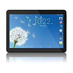 Android Tablet 10 Inch, Phablet Unlocked 3G [Android 8.1 Go] [GMS Certified] 10 Inch Tablet with Dual Sim Card Slots and Cameras, 1280 x 800 IPS, 16GB, Bluetooth, WiFi, GPS, OTG (Black)