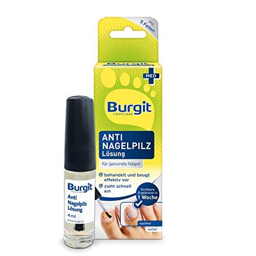 Burgit Anti Nagelpilz Lösung- Gegen Nagelpilz- Schnelle Pilzbehandlung- Bei Nagelinfektionen- Verfärbte & Verdickte Nägel, 4ml