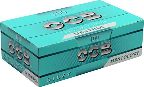 500 (5x100) OCB Mentol (Vainas, Manguitos filtro, Tubos de cigarrillos)