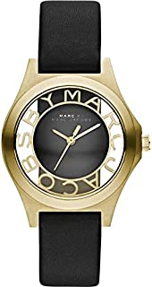 Marc Jacobs Women's Mbm1340 Henry Black Watch, Analog Display, Japanese Quartz Movement