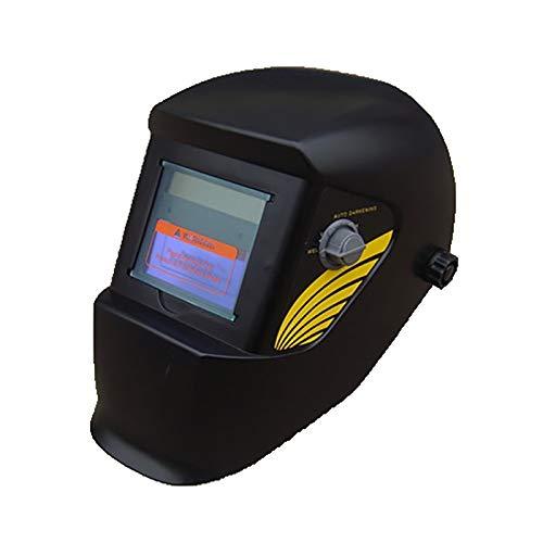 Lasmasker, Auto Verdonkerende op zonne-energie lashelm Lassers Mask Hood met verstelbare Shade Range (Color : Black)