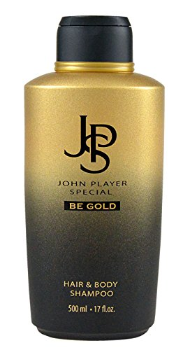 John Player Special JPS BE GOLD Hair & Body Shampoo, 1er Pack (1 x 500 ml)