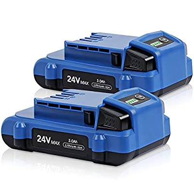 Jialipok 24V 3000Ah Lithium-ion Battery for Kobalt 24V Max KB624-03 KB524-03 KB424-03 KB224-03 KB124-03 0673802 1051230 Lithium Ion Cordless Tools Battery(2Pack)