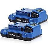 Jialipok 24V 3000Ah Lithium-ion Battery for Kobalt 24V...