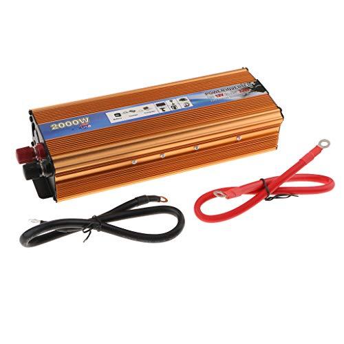 Amuzocity 2000 Watt Auto Wechselrichter 12 V DC Bis 220 V AC Sinus Solar Wechselrichter Gold