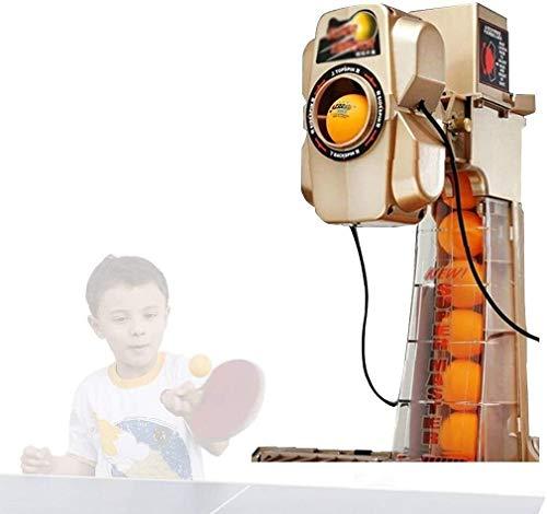 KDKDA Ping Pong máquina de bolas de Formación Tabla automática Tenis robot máquina del cabeceo máquina de bolas eléctrico con cargador de control remoto de la máquina de la bola neta portátil |37 Func
