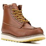 DieHard Men's Stylish Classic 6' SureTrack Soft Toe Leather Slip Resistant Durable Breathable Work Boot 84994 (Tan / 9.5)