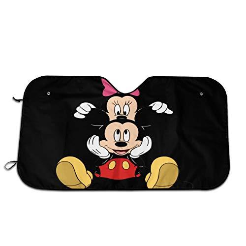 DSJLHM Mickey Mouse - Parasol para parabrisas de coche, 70 x 130 cm, para mantener tu coche fresco, reflector solar UV