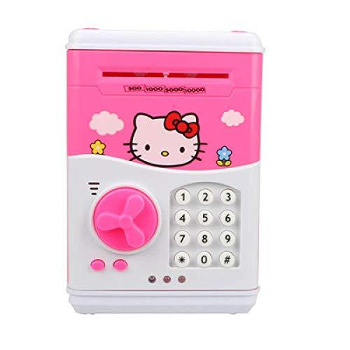 TWGDH alcancia Großes Sparschwein Geldautomat Geldsparbox Cat Box Minions Sicheres Sparschwein Smart Money Sparschwein Cat Coin Bank-Hello Kitty B.