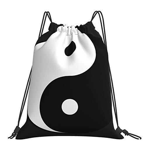 Yin Yang Collection - Mochila con cordón, mochila portátil y bolsa de viaje para deportes al aire libre