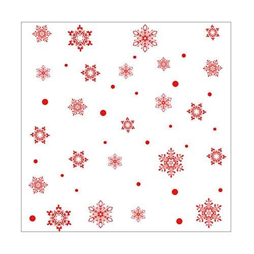 Sosa Copo de nieve electrostática pegatina ventana habitación de los niños Navidad pegatinas de pared hogar calcomanías decoración Festival papel pintado azul