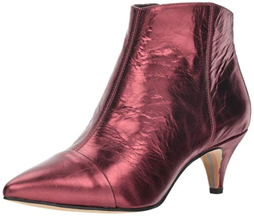 Sam Edelman Women's Kinzey 2 Fashion Boot, Dark Cherry Metallic Leather, 5.5 M US