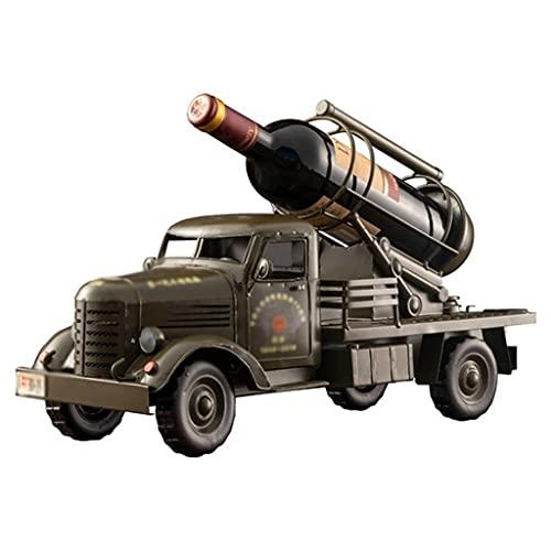 MaxDal Portabottiglie Classico per Camion in PLA, Portabottiglie da Tavolo, Accessori per Il Tavolo da Cucina, Decorazione Creativa per Portabottiglie (Color : Green, Size : 48 * 27cm)