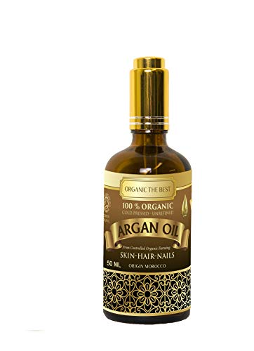 Huile d'argan bio 100% pressée à froid non raffinée certifiée qualité premium 100 ml