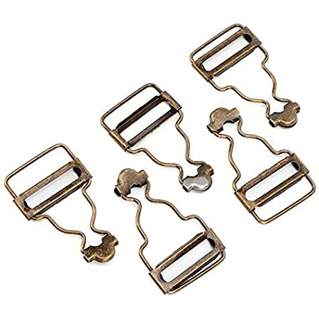 Bronze 10 Set 2.7CM Metal Adjustable Overall Buckles Suspenders Replacement Buckle for Bib Pants Jeans Child Clothes