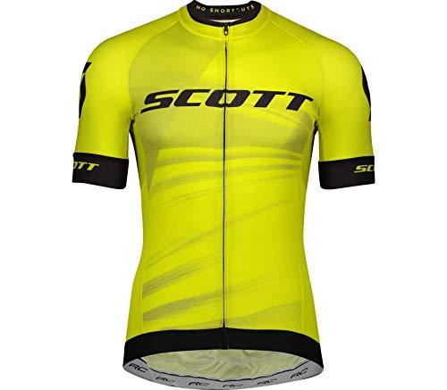 Scott RC Pro Fahrrad Trikot kurz gelb/schwarz 2020: Größe: XL (52/54)