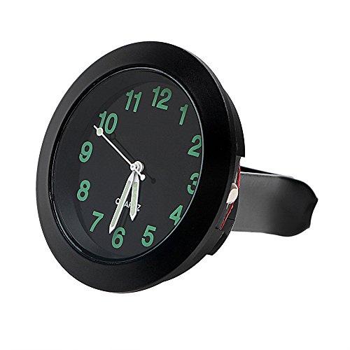 iTimo Mini horloge de voiture à quartz mécanique pour grille d'aération de voiture (noir)