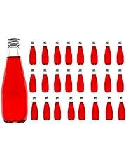 Casavetro Klart Skruv Top Tomma glasflaskor 330 ml - Återanvändbara Påfyllningsbara Twist Av Lock - lufttät Metall Lock för Kombucha Ölbryggning Gin Olja Vinäger Öl Vin Cider, Vodka Soda och Vatten (24 x 330 ml)